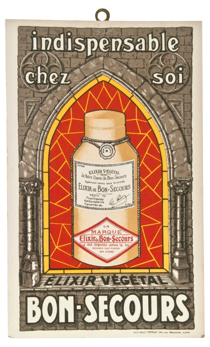French Bon Secours Elixir Sign
