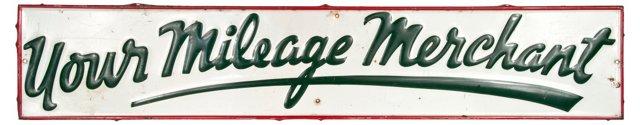 Conoco Your Mileage Merchant Sign