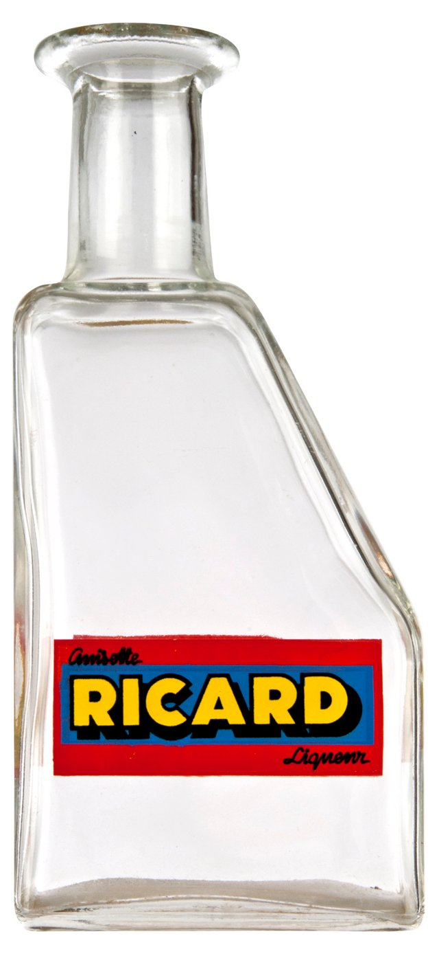 French Ricard Glass Bottle