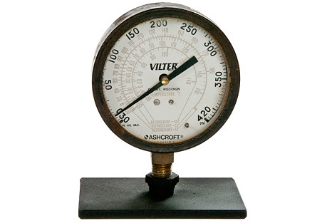 Vilter Gauge On Iron Stand