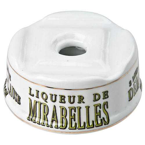 French Porcelain Mirabelles Inkwell