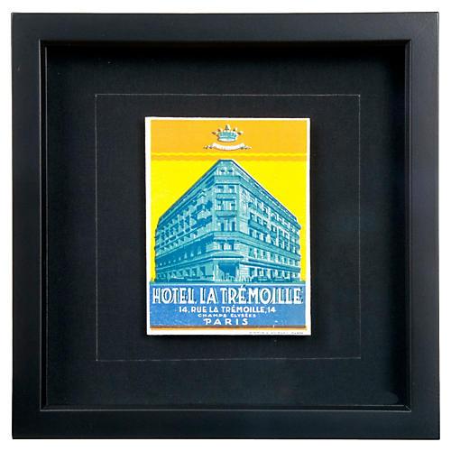 Framed La Tremoille Luggage Label