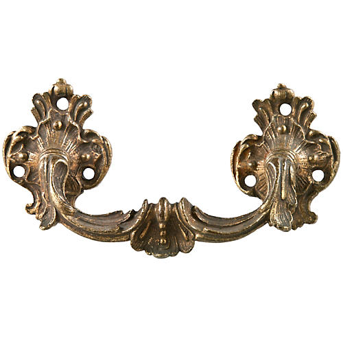 French Gilded Brass Drawer Handle