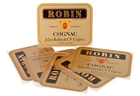 French Robin Cognac Coasters, S/6