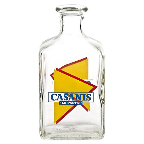 French Casanis Glass Carafe