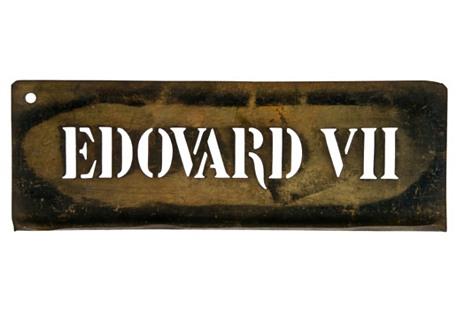 French Brass Edovard VII Stencil