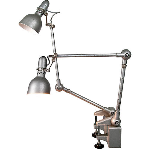 French Lumina Brevete Desk Lamps, Pair