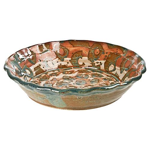 Handmade Studio Pottery Pie Plate
