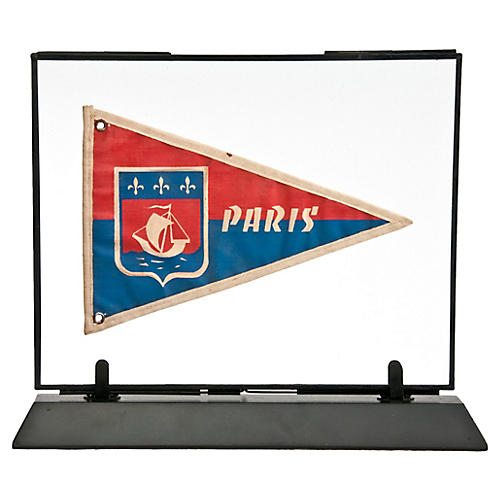 Framed French Paris Pennant