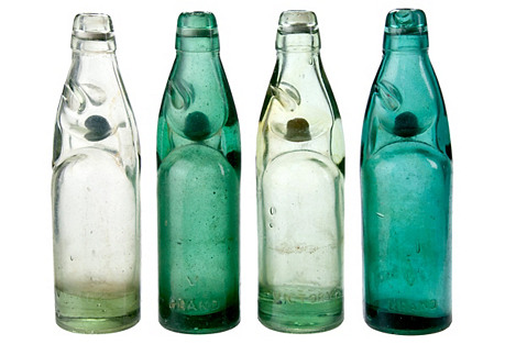 Street Vendor Soda Bottles, S/4