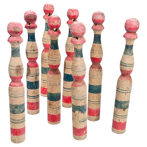 French Wood Skittles, S/8