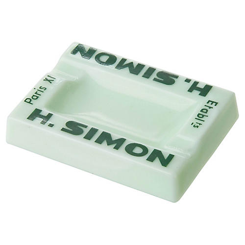 French H. Simon Opalex Glass Ashtray