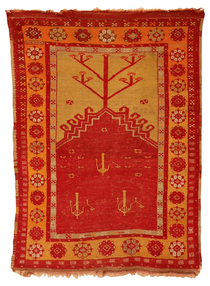 "Turkish Rug, 3'10"" x 5'5"""