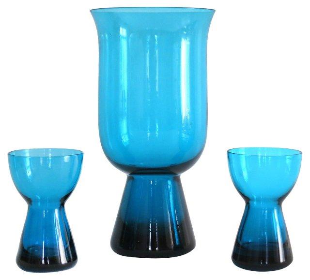 1960s Morgantown Glass Set, S/3