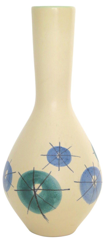 Midcentury Matte Flower Vase