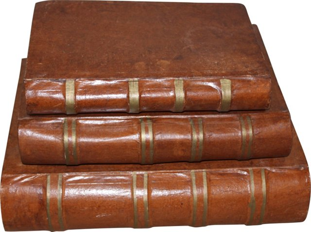 Papier-Mâché Book Boxes, Set of 3