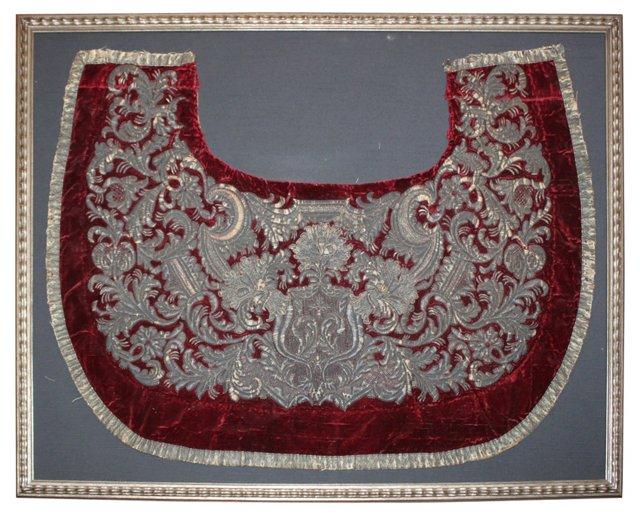 Framed Italian Metallic Embroidery
