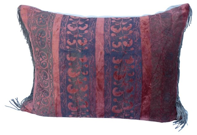 Pillow w/ Italian Silk Velvet