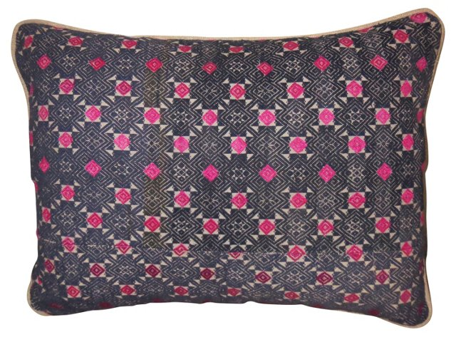 Hmong Pillow w/ Pink  Accents