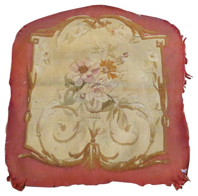 Antique  French    Tapestry Fragment
