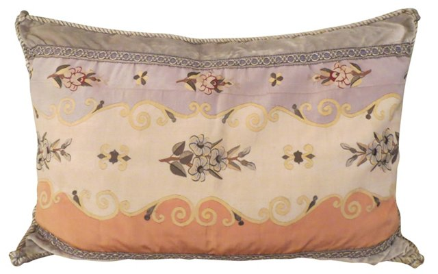 Pillow w/ Antique French  Textile