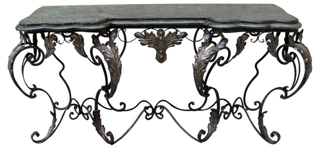 Wrought Iron French Console