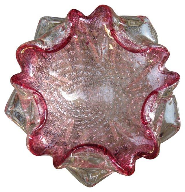 Pink Murano Bowl