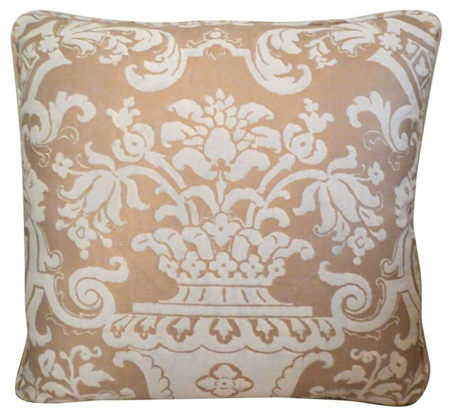 Soft Blue & Gold Fortuny Pillow