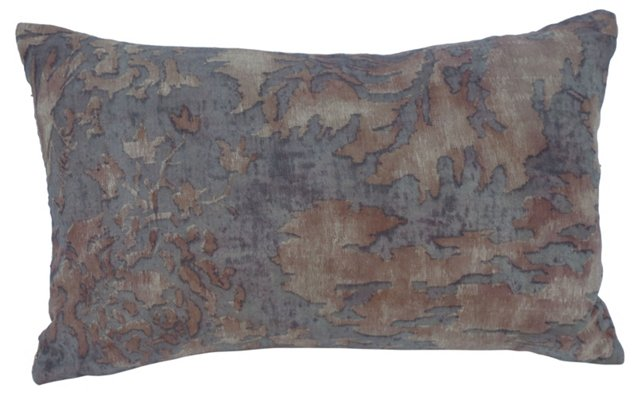 Pillow w/ Rust Fortuny  Textile