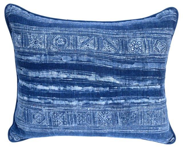 Blue    & White Batik Pillow