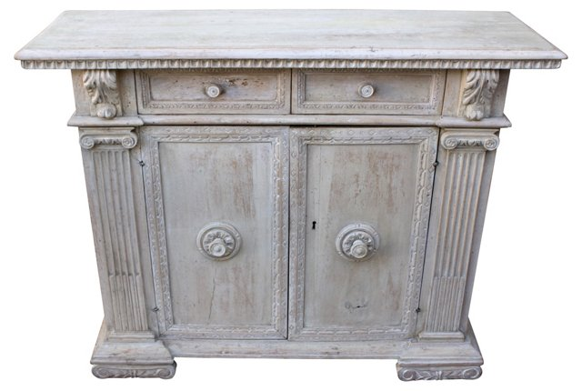 Antique Italian Carved Credenza