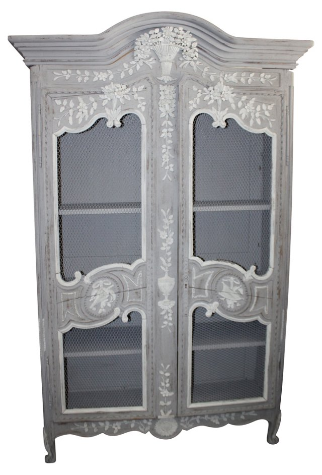 Louis XV-Style Painted Armoire