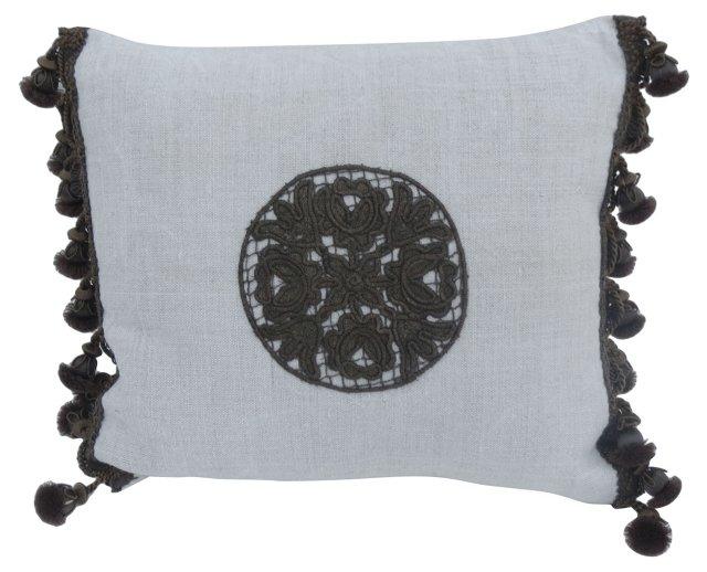 Pillow w/ Antique  Appliqué