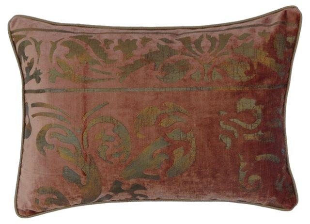 Metallic Stenciled Velvet Pillow