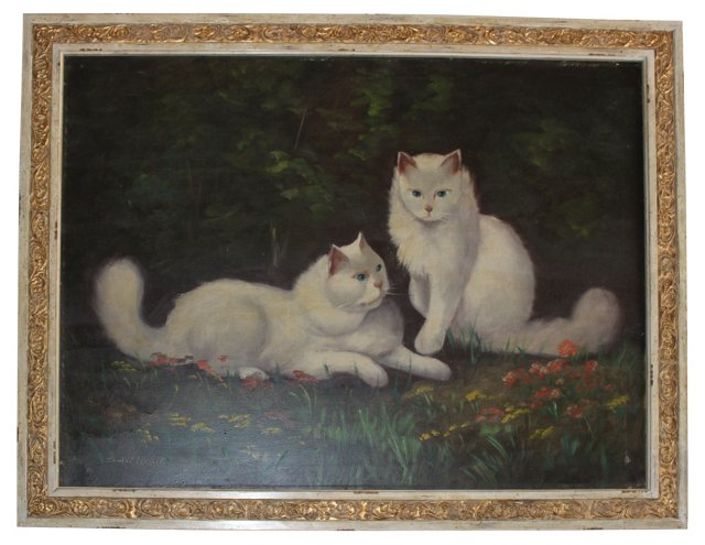Oil on Canvas, Persian Cats