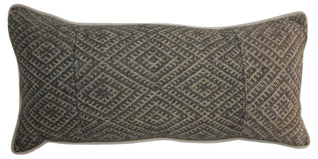 Gray Hmong Textile Pillow