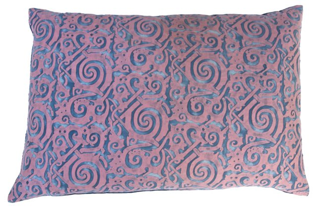 Pink & Blue Fortuny Pillow