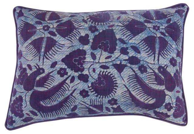 Blue & Purple Batik  Pillow