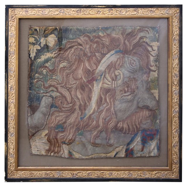 17th-C. Framed Tapestry Fragment