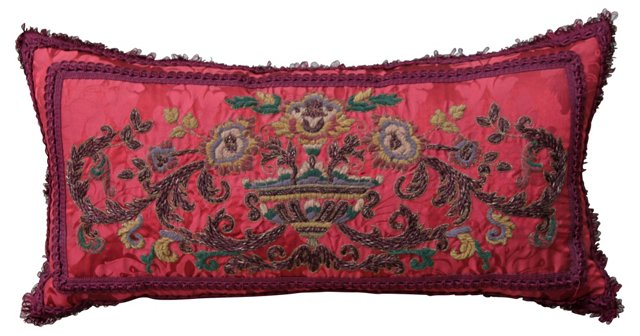 Pillow w/ Metallic & Chenille Brocade