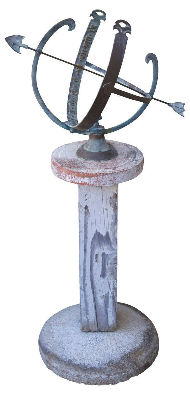 Bronze Sundial on Stand
