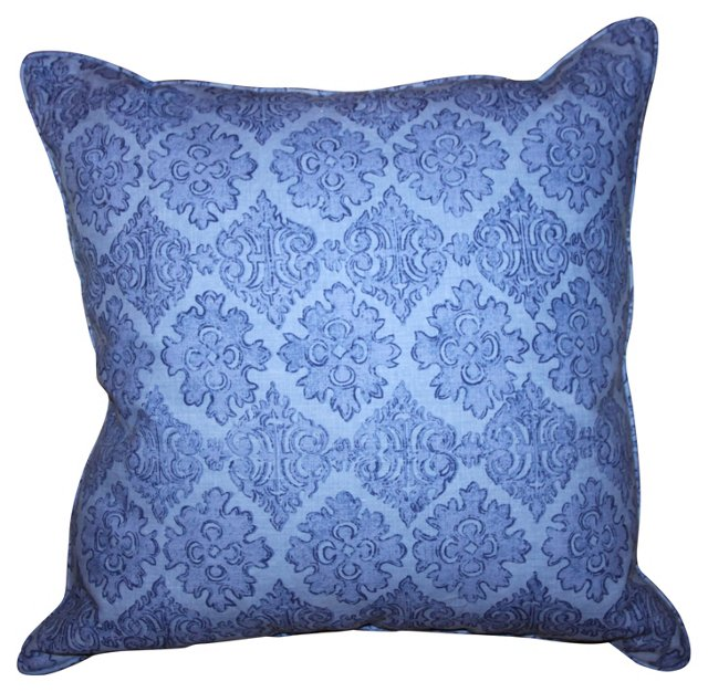 Raoul   Periwinkle Textile Pillow