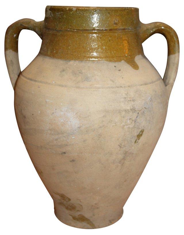 French Terracotta Urn  w/ Handles