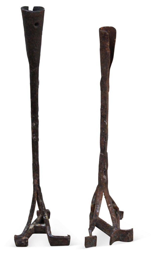 Branding Wrought Iron Candlesticks