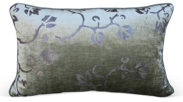 Ivy -Stenciled Velvet Pillow