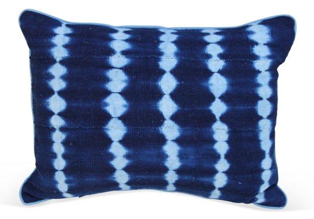 Blue   Mud Cloth Pillow