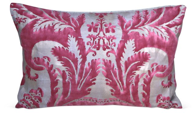 Pink   Fortuny Textile Pillow