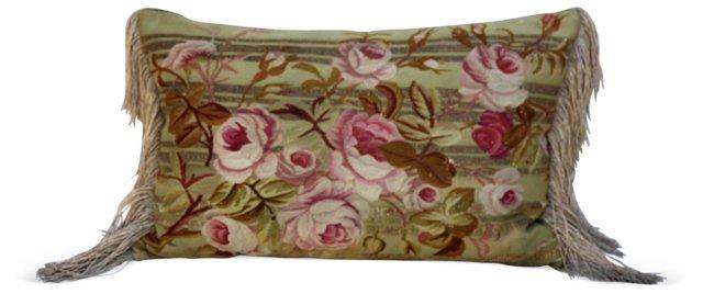 Pillow w/ 19th-C. Aubusson