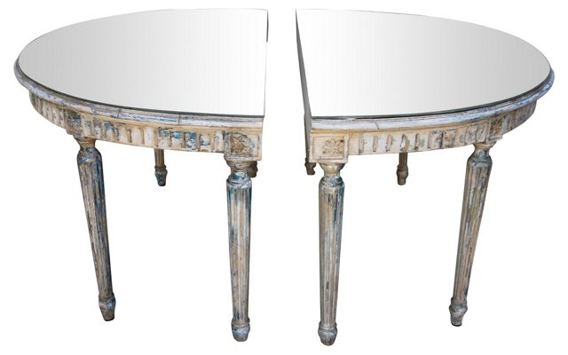 Neoclassical-Style Consoles,  Pair