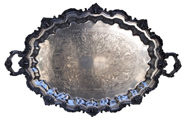 English Sheffield Silver Tray